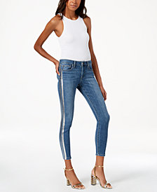 Joe's Jeans The Icon Metallic-Stripe Ankle Skinny Jeans