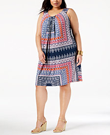 John Paul Richard Plus Size Pleated Dress