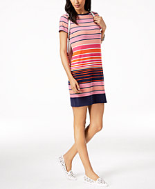 MICHAEL Michael Kors Abbey Mixed-Stripe Dress