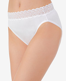 Vanity Fair Flattering Cotton Lace Hi Cut Brief 13395