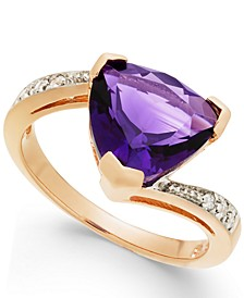 Amethyst (3-1/3 ct. t.w.) & Diamond Accent Swirl Ring in 14k Rose Gold