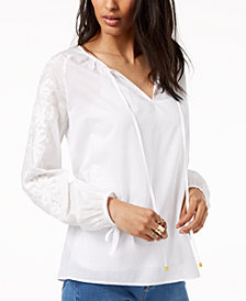 MICHAEL Michael Kors Embroidered Top