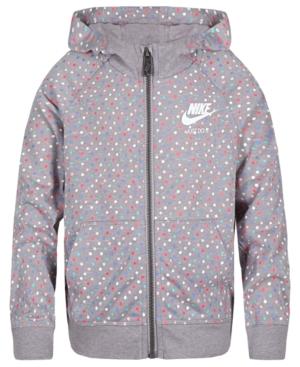Nike Dot-Print Zip-Up...