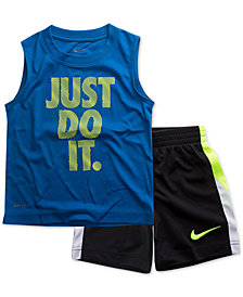 Nike Toddler Boys 2-Pc. Just Do It-Print Muscle Tank & Shorts Set