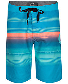 Hurley Little Boys Surf & Enjoy Striped Board Shorts
