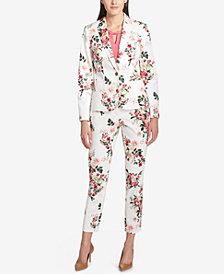 Tommy Hilfiger Floral-Print Jacket, Embellished Shell & Floral-Print Ankle Pants