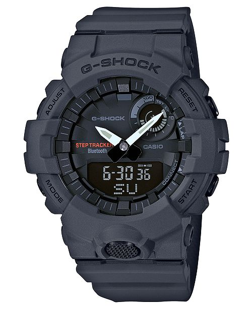 G-Shock Men's Analog-Digital Gray Resin Strap Step Tracker Watch 48.6mm