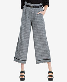 Max Studio London Cotton Gingham Check Pants, Created for Macy's