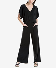 Max Studio London Button-Shoulder Dolman-Sleeve Jumpsuit, Created for Macy's