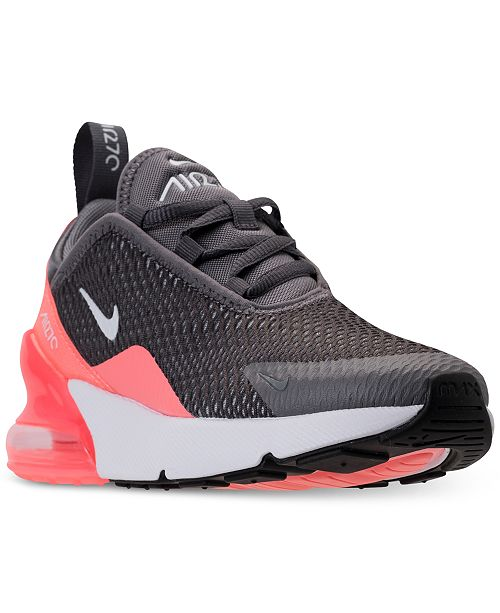 brand new 13c5d ce65b Nike Little Girls' Air Max 270 Casual Sneakers from Finish ...