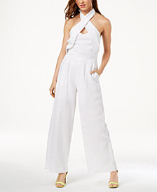 XOXO Juniors' Crisscross Halter Jumpsuit