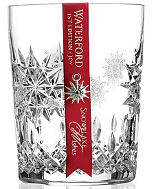 Drinkware, Snowflake Wishes for Joy Double Old Fashioned Glass