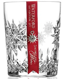 Waterford Drinkware, Snowflake Wishes for Joy Double Old Fashioned Glass