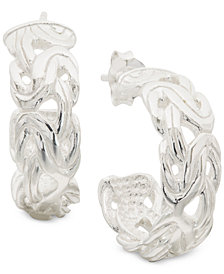 Giani Bernini Small Byzantine Hoop Earrings in Sterling Silver, Created for Macy's