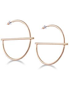 GUESS Gold-Tone G-Shaped Hoop Earrings