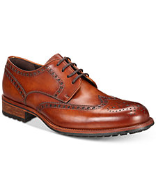 Massimo Emporio Men's Cap-Toe Brogue Oxfords, Created for Macy's