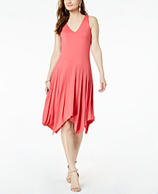 I.N.C.  Sleeveless Knit Asymmetrical Hem Dress, Created for Macy's