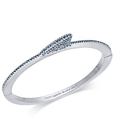 kate spade new york Silver-Tone Pavé Shark Fin Bangle Bracelet