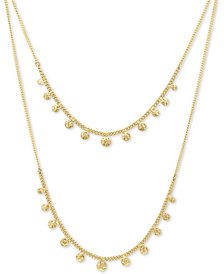 "lonna & lilly Gold-Tone Dangle Layered Necklace, 16"" + 3"" extender"