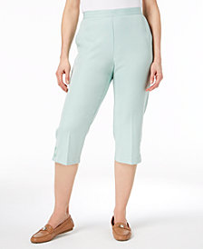 Alfred Dunner Petite Pull-On Flat-Front Capri Pants