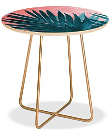 Deny Designs Palms Round Side Table