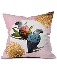Jolly Parrots Throw Pillow