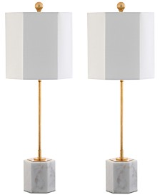 Safavieh Set of 2 Magdalene Marble Table Lamps