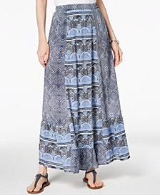 Style & Co Mixed-Print Maxi Skirt, Created for Macy's
