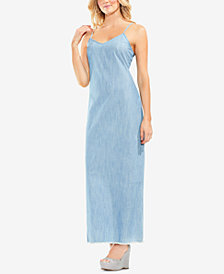 Vince Camuto Chambray Maxi Slip Dress