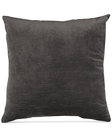 "Hallmart Collectibles Gray Velvet 20"" Square Pair of Decorative Pillows"