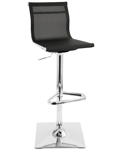 Lumisource Mirage Adjustable Bar Stool, Quick Ship