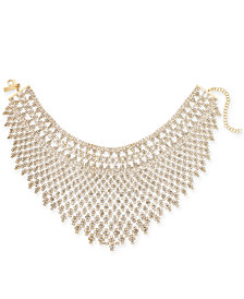 I.N.C. Gold-Tone Draped Choker Statement Necklace, Created for Macy's
