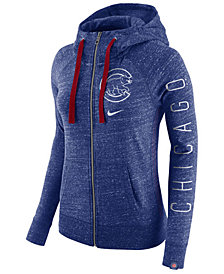 Nike Women's Chicago Cubs Gym Vintage Full Zip Hooded Sweatshirt