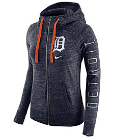 Nike Women's Detroit Tigers Gym Vintage Full Zip Hooded Sweatshirt