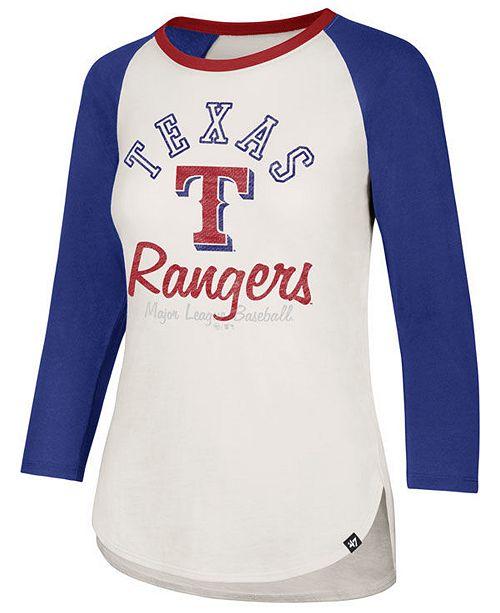 cheaper 737fd f789d 47 Brand Women's Texas Rangers Vintage Raglan T-Shirt ...