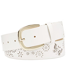 I.N.C. Perforated Flowers & Butterfly Belt, Created for Macy's