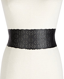 I.N.C. Perforated Tie-Sash Waist Belt, Created for Macy's