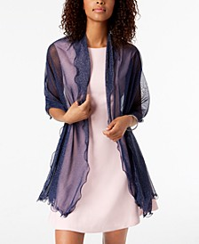 INC Ruffle-Edge Metallic Evening Wrap, Created for Macy's