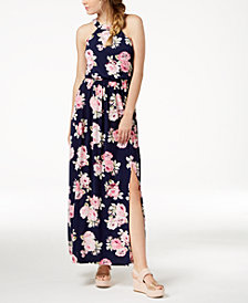 Trixxi Juniors' Open-Back Maxi Dress