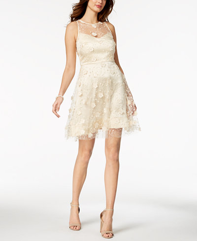 Taylor Embellished Lace A-Line Dress