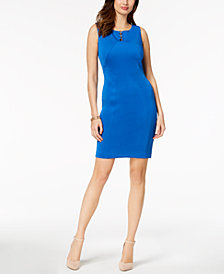Ivanka Trump Hardware Sheath Dress