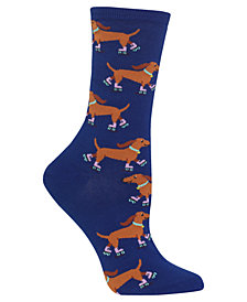 Hot Sox Women's Rollerskating Dog Socks