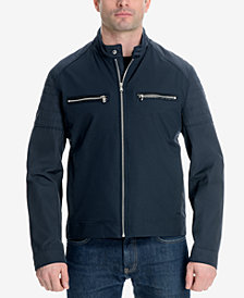 Michael Kors Men's Big and Tall Moto Jacket