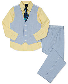 Nautica 4-Pc. Shirt, Vest, Pants & Tie Set, Toddler Boys