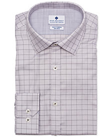Ryan Seacrest Distinction™ Men's Ultimate Active Slim-Fit Non-Iron Performance Stretch Dobby Check Dress Shirt, Created for Macy's