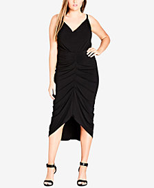 City Chic Trendy Plus Size Ruched Bodycon Dress