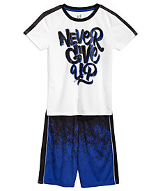 Ideology Never-Print T-Shirt & Active Shorts, Big Boys, Created for Macy's