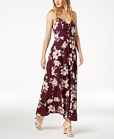 Crystal Doll Juniors' Open-Back Maxi Dress
