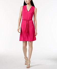Calvin Klein Sleeveless Tie-Detail Dress