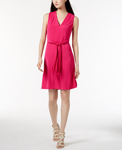 Calvin Klein Sleeveless Tie-Detail Dress